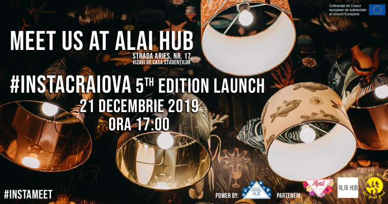 Meet us at Alai Hub – InstaCraiova 5th Edition Launch