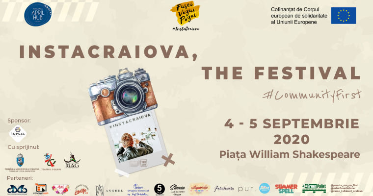 InstaCraiova,  The Festival – 4 – 5 septembrie, Piața William Shakespeare – PROGRAM