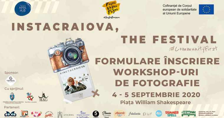 Formulare înscriere workshop-uri de fotografie – InstaCraiova, The Festival